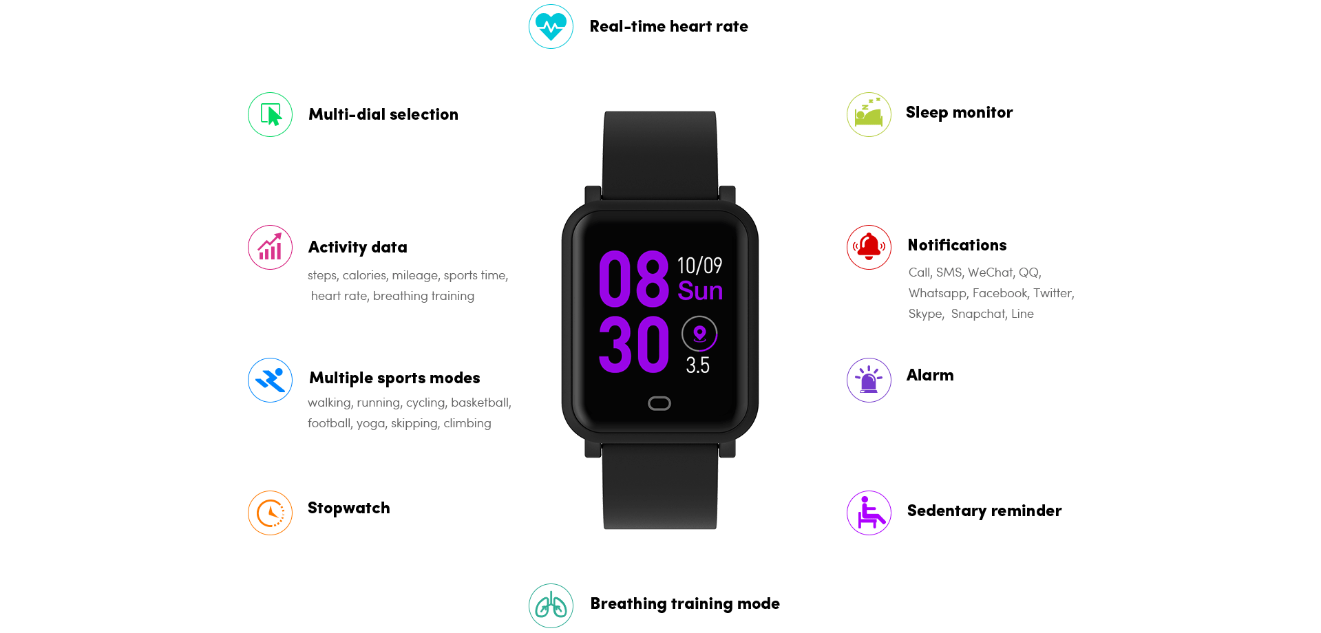 Smart Watch H706-Functions