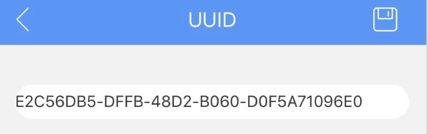 UUID of ibeacon android