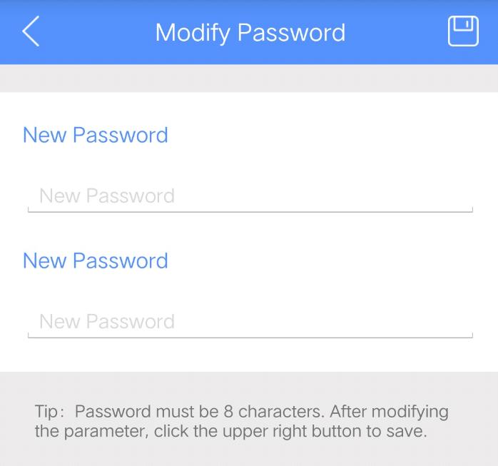 修改密码的iBeacon显示机器人