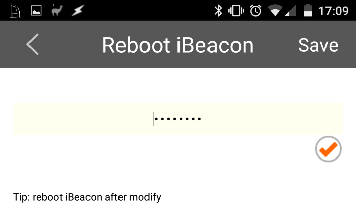 reboot ibeacon android