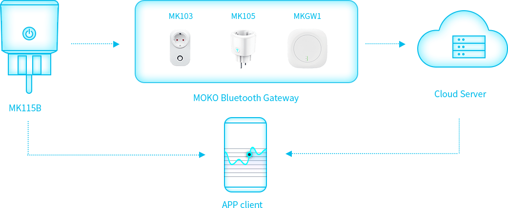 Bluetooth low energy smart Plug MK115B Functional Block Diagram
