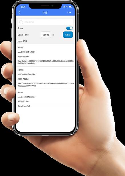 Interfaccia dell'app ESP32 Bluetooth Gateway Plug
