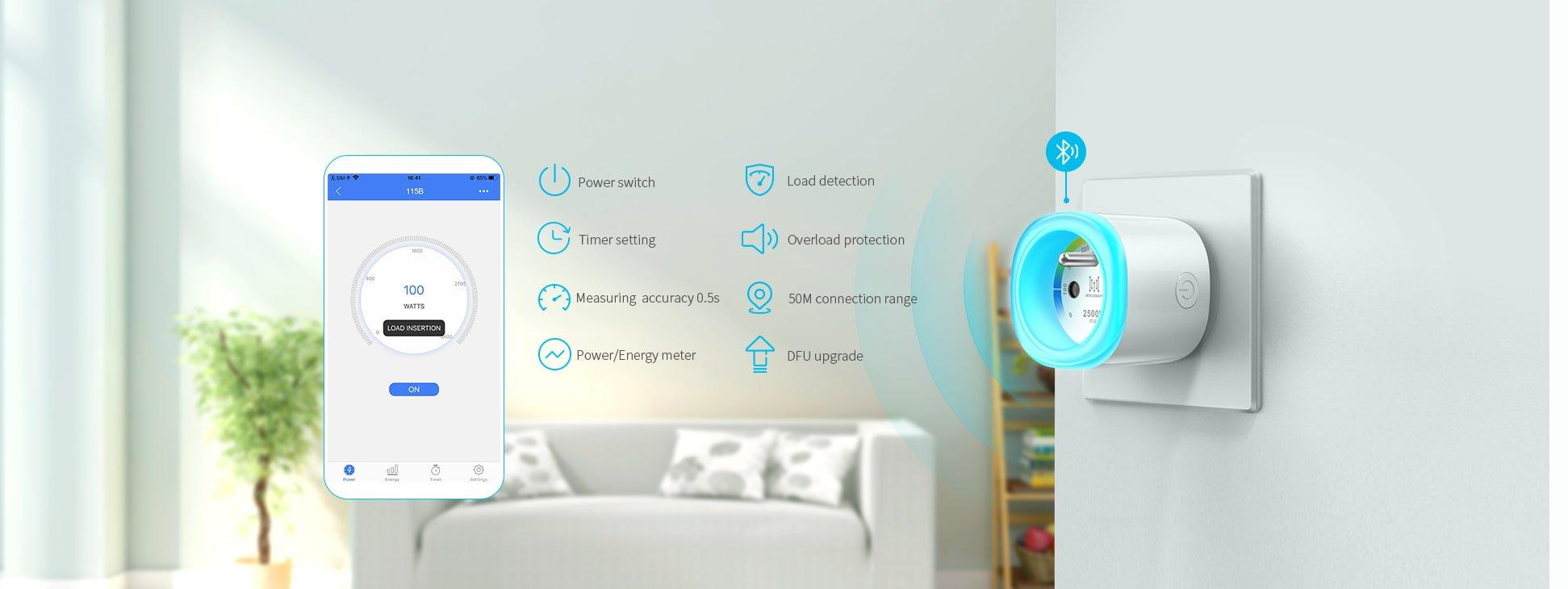 Bluetooth Smart Plug MK115B Product applications