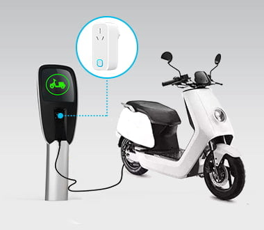 mk116 wifi smart plug for Motorcycle Charging Metering