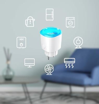 Enchufe inteligente Bluetooth MK115B para control de electrodomésticos